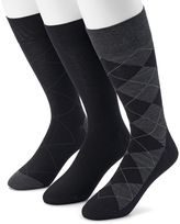 Marc Anthony Men's Argyle Heathered Dress Socks