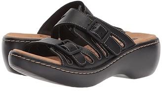 Clarks Delana Liri (Black Leather) Women's Shoes