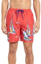 Vineyard Vines Men's Sailing The Bay Bungalow Board Shorts