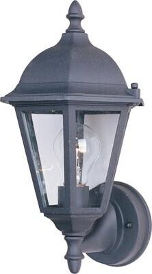 Alcott Hill Listermann 1-Light Outdoor Sconce Finish: Black