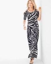 Chico's Cold-Shoulder Zebra Maxi Dress