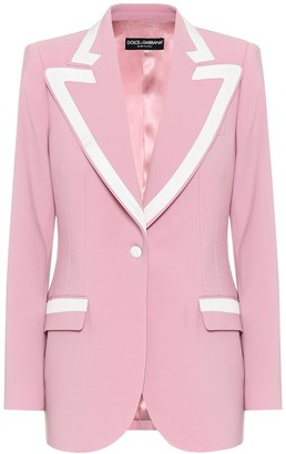 Dolce & Gabbana Stretch wool and silk blazer