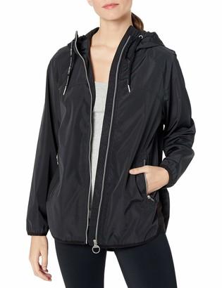 Calvin Klein Women's Crossover Back Water Repellent Hooded Spectator Jacket