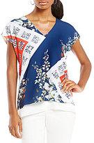 Preston & York Camille Floral Double-Layer Blouse