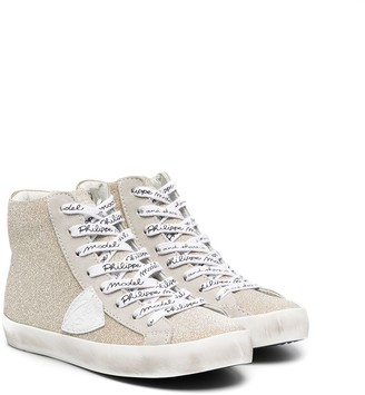 Philippe Model Kids Lace-Logo High-Top Sneakers