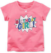 Carter's Birthday Girl Cotton T-Shirt, Baby Girls