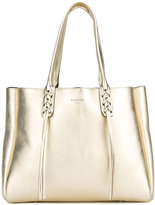 Lanvin metallic (Grey) fringed shopper tote - women - Calf Leather - One Size