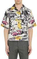 Prada Men's City & Car Cotton Bowling Shirt