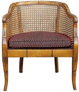 One Kings Lane Vintage Caned Campaign Armchair - Something Vintage - brown