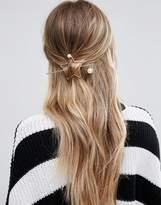 Glamorous Minimal Star Through Hair Pin