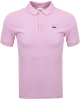 Lacoste Live Ultra Slim Polo T Shirt Pink