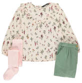 George 3 Piece Blouse, Shorts and Tights Set