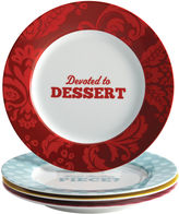 JCPenney CAKE BOSS Cake BossTM Set of 4 Porcelain Dessert Plates - Patterns & Quotes