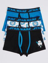 Marks and Spencer 3 Pack Star WarsTM Cotton Trunks with Stretch (2-16 Years)