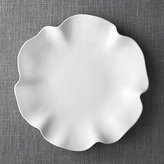 "Crate & Barrel White Ruffle 16"" Platter"