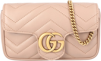 Gucci Light Pink GG Marmont Matelasse Super Mini Bag