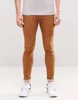 Asos Denim Meggings In Brown
