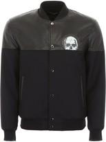 Alexander McQueen Skull Printed Varsity Jacket