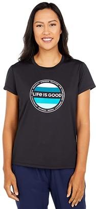 Life is Good Active Tee (Jet Black) Women's T Shirt