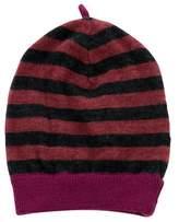 Caramel Baby & Child Girls' Wool Striped Beanie