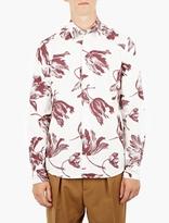 Marni White Floral Print Shirt