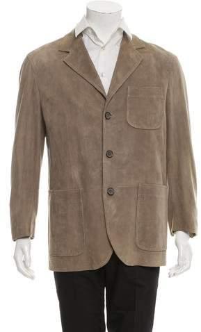 Dolce & Gabbana Suede Three-Button Jacket