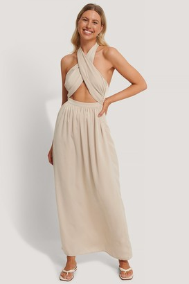 Stéphanie Durant X NA-KD Crossed Front Maxi Dress