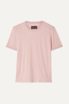 RtA Quinton Cotton And Cashmere-blend Jersey T-shirt - Blush