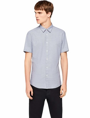 Find. Men's Cotton Slim Fit Short Sleeve Shirt