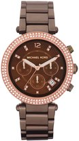 Michael Kors Women's MK5578 Brown Stainless-Steel Quartz Watch with Brown Dial