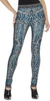 Herve Leger Zimmer Ocelot And Antique-Lace Jacquard Pant