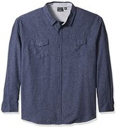 Burnside Men's Cater 2 Solid Flannel Button Down Long Sleeve Shirt
