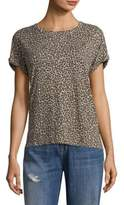 Current/Elliott Vintage Leopard Crewneck T-Shirt