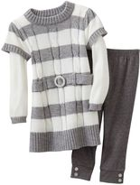 Little Lass mock-layer dress & leggings set - baby