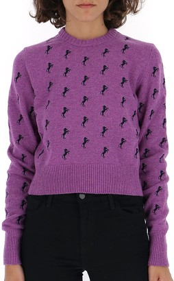 Chloé Horse Embroidered Knitted Sweater