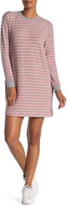 Velvet by Graham & Spencer Mabel Striped Long Sleeve Knit Shift Dress