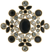 Givenchy Bezel Mixed Rhinestone Floral Pin