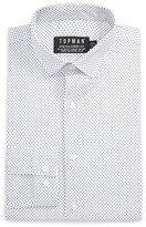 Topman Men's Skinny Fit Dot Print Dress Shirt
