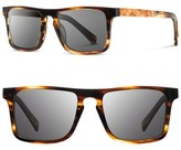Shwood Men's 'Govy' 52Mm Wood Sunglasses - Tortoise/ Maple Burl/ Grey