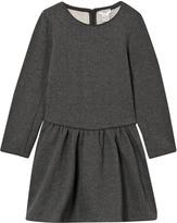 Cyrillus Grey Lurex Knit Dress with Pink Trims