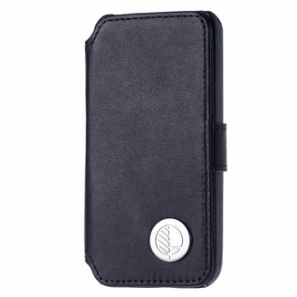 Drew Lennox iPhone SE 5 5S Luxury English Leather Phone Wallet with 3 Card Slots in Verglas Black