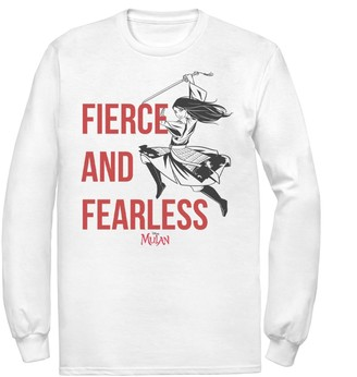 Licensed Character Men's Disney Mulan Live Action Fierce And Fearless Action Pose Tee