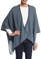 Iris von Arnim Reversible Double-Face Cashmere Cape, Blue/Gray