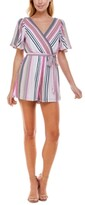 Thumbnail for your product : Trixxi Juniors' Open-Back Striped Romper