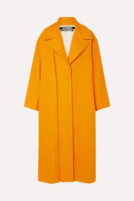 Jacquemus Quito Oversized Cloque Coat - Orange