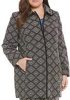 Kasper Plus Geometric Jacquard Topper Jacket