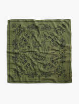 Lucky Brand Lot, Stock And Barrel Embroidered Skull Bandana