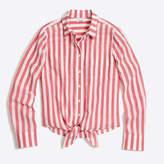 J.Crew Factory Striped tie-waist shirt