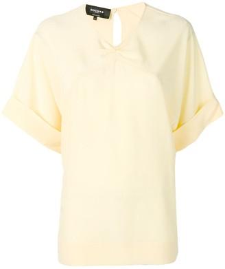 Rochas v-neck boxy blouse