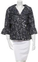 Anna Sui Metallic Floral Print Jacket